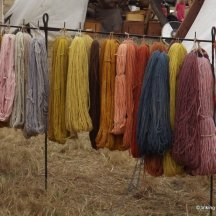 Naturally dyed wool by Elin - Moesgard.